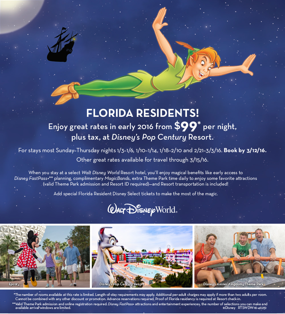 Discounts Tickets For Florida Residents